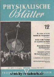 Physikalische Blätter, Ausgabe 12/1963