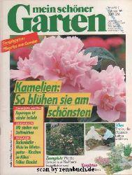Mein schöner Garten, Februar 1989: Kamelien, Asparagus, Duftveilchen, Borkenkäfer, Wein, Kirschen im Kübel, Eissalat, Zaungäste, Vorgärten, Vlies, Pflanzenbabys