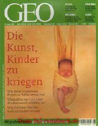 Geo 8/2003: Fortpflanzungs-Medizin - Kelp - Rabenvögel - Deutschlands Flüsse - mit großem Poster - Sri Lanka