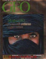 """Geo Magazin 10/1996: 20 Jahre GEO - Andamanen - Gletschermumie """"""""Ötzi"""""""" - Europäische Panoramen - Uwe George -  Chlor/Wald - Fotografie - Washington, D. C."""