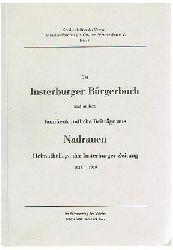 Das Insterburger Bürgerbuch und andere familienkundliche Beiträge aus Nadrauen. Heimatbeilage der Insterburger Zeitung 1935 - 1939.