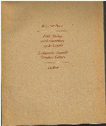 Joseph Beuys -- Beuys vor Beuys.  Frühe Arbeiten aus der Sammlung van der Grinten. Zeichnungen. Aquarelle. Ölstudien. Collagen.