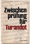 Zwischenprüfung für Turandot  Geschichten und Gedichte