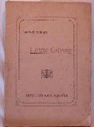Letzte Grüße,Gesammelte Gedichte von Friedrich Bierlein