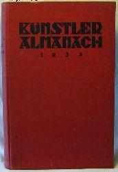 Künstler-Almanach 1934,Lexikon für Bühne, Konzert, Film und Funk.