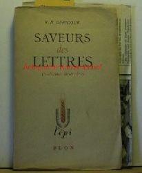 Debidour, Victor-Henry  Saveurs des lettres. Problèmes littéraires.