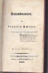 Schefer, Leopold  Laienbrevier,Von Leopold Schefer