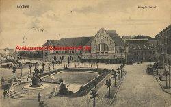 Historische Ansicht aus Deutschland um 1900,  Aachen/Bahnhof, 19x13cm