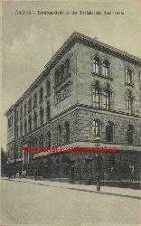 Historische Ansicht aus Deutschland um 1900,  Aachen/Bergbaugebäude der Technischen Hochschule, 19x13cm
