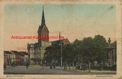 Historische Ansicht aus Deutschland um 1900,  Aachen/Kaiserplatz, 19x13cm