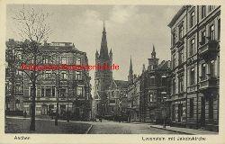 Historische Ansicht aus Deutschland um 1900,  Aachen/Lavenstein mit Jakobskirche, 19x13cm