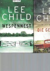 Child, Lee  Konvolut 3 Bücher: Ein Jack-Reacher-Roman. 1. Wespennest. 2. Die Gejagten. 2016.,3. Der Anhalter. 2015