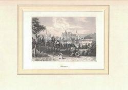 Aachen. - Original-Stahlstich.,unten links: Aus d. Kunstanst. d. Bibliogr. Inst. in Hildbh.