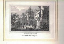 Nach der Natur gez. von Witthöft. Lith. von C. Müller.  Ruinen von Paulinzella. - Lithographie.,unten links: IV. 8.; unten rechts: B. I.