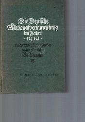 Heilfron, Eduard  Die Deutsche Nationalversammlung im Jahre 1919 in ihrer Arbeit für den Aufbau des neuen deutschen Volksstaates. 5. Band.,Herausgegeben von Ed. Heilfron
