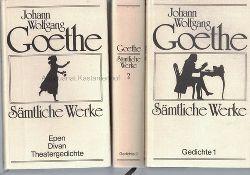 Goethe, Johann Wolfgang von  Konvolut 8 Bände:. Sämtliche Werke in 18 Bänden