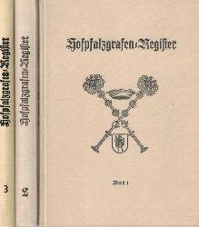 Arndt, Jürgen  Konvolut 3 Bände: Hofpfalzgrafen-Register Band l, ll, lll,Herausgegeben vom Herold, Verein für Heraldik, Genealogie und verwandte Wissenschaften zu Berlin. Bearbeitet von Jürgen Arndt