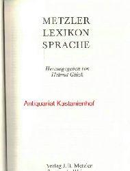 Glück, Helmut  Metzler-Lexikon Sprache