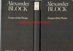 Blok, Aleksandr  Drei  (3) Bände: Ausgewählte Werke ,Herausgegeben von Fritz Mierau