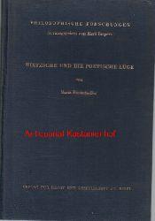 Bindschedler, Maria  Nietzsche und die poetische Lüge,Philosophische Forschungen herausgegeben von Karl Jaspers