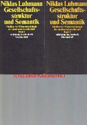 Luhmann, Niklas  Drei (3) Bände Gesellschaftsstruktur und Semantik,Studien zur Wissenssoziologie der modernen Gesellschaft
