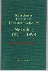 Klimt, Andreas  Kürschners Deutscher Literatur-Kalender,Nekrolog 1971-1998