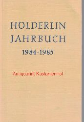 Beissner, Friedrich; Kluckhohn, Paul; Bo?schenstein, Bernhard; Kurz,Gerhard; Ho?lderlin-Gesellschaft.  Ho?lderlin-Jahrbuch Band 24,1984-1985