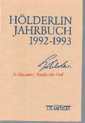 Beissner, Friedrich; Kluckhohn, Paul; Bo?schenstein, Bernhard; Kurz,Gerhard; Ho?lderlin-Gesellschaft  Ho?lderlin-Jahrbuch,Band 28. 1992-1993