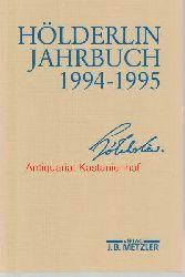 Friedrich Beissner; Paul Kluckhohn; Bernhard Bo?schenstein; Ulrich Gaier; Ho?lderlin-Gesellschaft  Ho?lderlin-Jahrbuch 1994-1995,29. Band