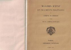 Hanotaux, M. Gabriel  Maximes d