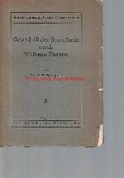 Bousquet, G. H.  Grundriß der Soziologie nach Vilfredo Pareto
