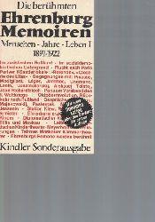 Ehrenburg, Ilja  Die berühmten Ehrenburg-Memoiren,Menschen. Jahre. Leben I  1891 - 1922