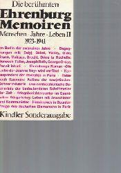 Ehrenburg, Ilja  Die berühmten Ehrenburg-Memoiren,Menschen. Jahre. Leben II. 1923 - 1941