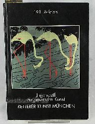 Ketterer Kunst  191. Auktion - Jugendstil Angewandte Kunst,Vorbesichtigung/ Preview - Sonntag 7. November 1993 (11- 18 Uhr) Montag 8. November bis Donnerstag 11. November (11- 19 Uhr) - Versteigerung/ Auction 13. November 1993