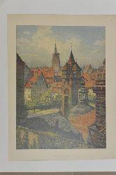 Jordan, Ernst Pasqual  Stadtturm Hannover,Vedute