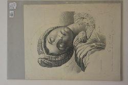 Louray (?); Engelmann; Le Dominiquin  Tete de Ste Cecile. Kopf der Hl. Cecile Dessine a Rome par Meynier, d´apres le tableau du Dominiquin du Martyr de  Ste Cecile.