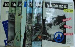Kammer der Technik  Maschinenbau Technik Konvolut. Jahrgang 1957/2-8,Technisch-Wissenschaftliche-Zeitschrift für Werkzeugmaschienen-, Schwermaschienen-, Kraft- und Arbeitsmaschienen- sowie Spezialm