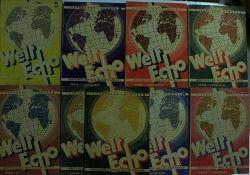 Bloch u.a.  Konvolut Welt Echo 9 Hefte 1. Jahrgang 1,2,3,4,5,7,8,9,12