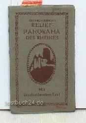 Kleines Farbiges Relief-Panorama des Rheines,Mit beschriebendem Text