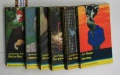 Albrecht, Johannes / Flieger, Jan / Neumann, Gerhard/Flieger/mager/Neumann  Konvolut 8 Kriminalromane mit dem gelben Streifen 1. Gift im Glas 2. Die  todbringende Madonna,3. Der graue Mann 4. Die  Vermummten. 33 Stenogramme um einen Mord.
