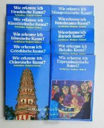 Konvolut 10 Bücher Wie erkenne ich... ? 1. Expressionistische Kunst.,2. Rokoko Kunst. 3. Barock Kunst. 4. Renaissance Kunst.