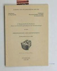 Akademie der Wissenschaften der DDR.  Fernerkundung und Geoinformatik. 5. Wissenschaftliche Konferenz. ,Stand und Entwicklungstendenzen der Fernerkundung Karl-Marx-Stadt, 20. - 24. Juni 1988.