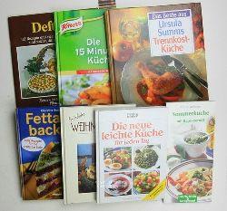 Diverse  Konvolut 7 interessante , sehr gute Kochbücher. 1. Sommerküche mit Raps-Kernöl. Frisch, leicht und kerngesund.,2. Essen und trinken. Die neue leichte Küche für jeden Tag.