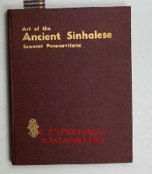 Paranavitana, Senarat  Art of the Ancient Sinhalese. Englisch.