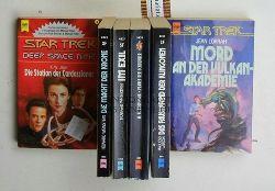 Lorrah, Jean/Larson, Majliess/Thompson, W. R./Weinstein, Howard/Jeter, K. W.  Konvolut 6 Star Trek Science-Fiction-Romane. 1. Mord an der Vulkan-Akademie.,2. Das Faustpfand der Klingonen. 3. Planet der Schuldner. 4. Im Exil.
