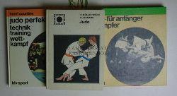 Müller-Deck, Hans; Lehmann, Gerhard/Courtine, Henri/Kimura  Konvolut 3 Judo-Bücher. 1. Judo. Schülersport. 2. Judo Perfekt.,Technik, Training, Wettkampf. 3. Judo. Für Anfänger + Kämpfer.
