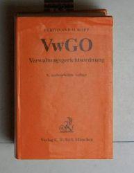 Kopp, Ferdinand O.  VwGO Verwaltungsgerichtsordnung. 9., neubearbeitete Auflage.,Erläutert von Ferdinand O. Kopp