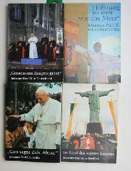 Papst Johannes Paul II.  Konvolut 5 Bücher über Papst Johannes Paul II. 1. Gott segne dich, Afrika.,Johannes Paul II. in Afrika. 2. Im Land des wahren Kreuzes. Johannes Paul II. in Brasilien.
