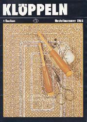 Tiesler, Eva  Heft Klöppeln. 5 Decken. Bestellnummer 2165. Entwürfe und Anleitungen Brunhilde Schneider.,Grafische Gestaltung Hannelore Reinhardt-Fischer. Fotos Heinz Schütze.