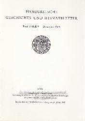 Hauschild-Thiessen, Dr. Renate und andere  Konvolut 40 Hefte Hamburgische Geschichts- und Heimatblätter.,1. und 2. Band 8, Heft 9. 3. Band 8. 4. Band 8, Heft 10. 5. Band 8, Heft 11-12.